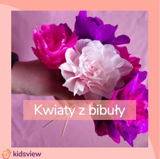 kwiaty z bibuły - jak zrobić