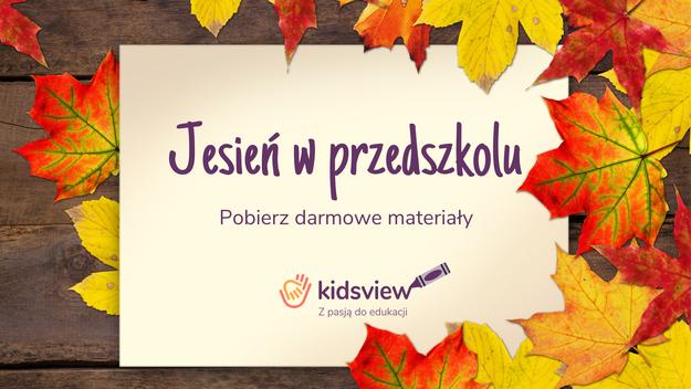 główny obrazek do Jesień w przedszkolu - materiały do druku